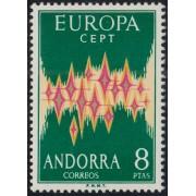 Andorra española 72  1972 Europa CEPT MNH
