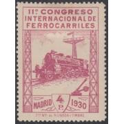 España Spain 480 ( 469/82 )  1930 Congreso Ferrocarril Train MH