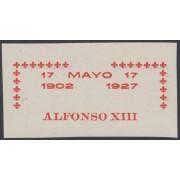 España Spain Variedad 368 (363/72) 1927 Improntas Alfonso XIII