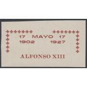 España Spain Variedad 369 (363/72) 1927 Improntas Alfonso XIII