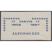 España Spain Variedad 372 (363/72) 1927 Improntas Alfonso XIII