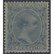 España Spain Variedad 221ib 1889/1899 Papel Azulado Afonso XIII 100€