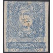 España Spain Variedad 107 1870 Prueba Maculatura Alegoría