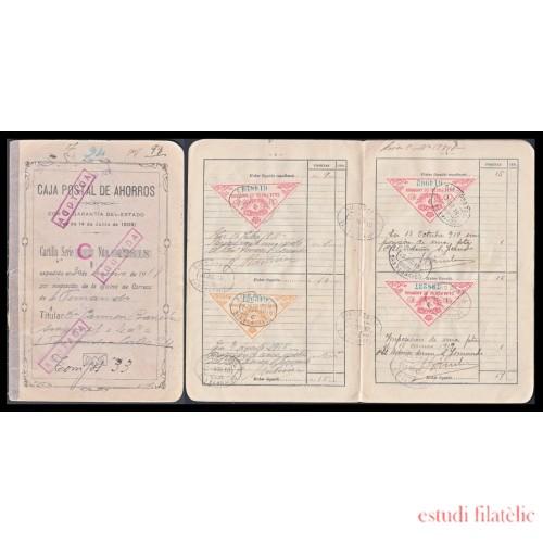 España Libreta Sellos Caja Postal 1918 Completa Cádiz