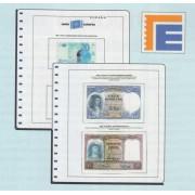 <div><strong>Hojas España Billetes Edifil 1936/1975 Estado Español<br /> </strong></div>