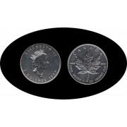 Canadá Canada Onza de plata 5 $ 1997  Maple Leaf Elisabeth II