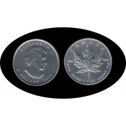 Canadá Canada Onza de plata 5 $ 2009 Maple Leaf Elisabeth II