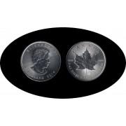 Canadá Canada Onza de plata 5 $ 2014 Maple Leaf Elisabeth II