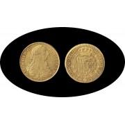 España Spain 8 Escudos 1773 Carlos Carol III Sevilla  S  CF gold