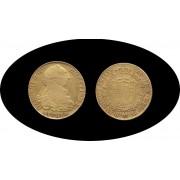 España Spain 8 Escudos 1788 Carlos Carol IIII Sevilla S C  gold
