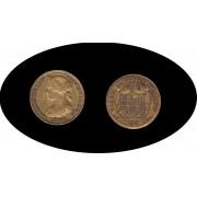 España Spain 1864 100 Reales Madrid Oro Au gold