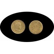 España Spain 1844 80 Reales S Sevilla  Oro Au gold