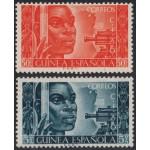 Guinea española  309/10 1951 Conferencia Intr. Africanista MNH