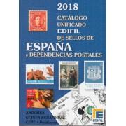 CATÁLOGO CATOLOG UNIFICADO EDIFIL 2018 SELLOS DE ESPAÑA Y DEPENDENCIAS POSTALES