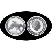 Australia Kookaburra 2011 1 onza de plata 1$ 999 Ag