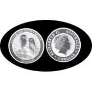 Australia Kookaburra 2013 1 onza de plata 1$ 999 Ag