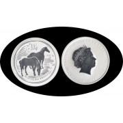 Australia Caballo Horse 2 onza 2$ 2014 Plata