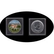 Canadá Canada Onza de plata 5 $ 2013 Venado Deer Leaf Elisabeth II Color