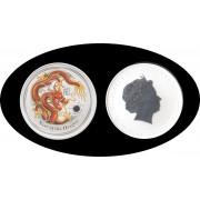 Australia 1 onza 2012 1$ Year of the Dragon Plata Color