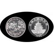 China onza de plata 1995 Oso Panda Sylver Ag