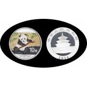 China onza de plata 2014 Oso Panda Sylver Ag Color