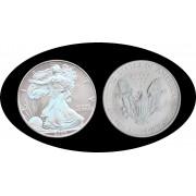 Estados unidos United States 2005  1 Onza de plata  Liberty Realizada en Holograma