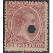 España Spain Telégrafos 224T 1889/99 MH
