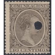 España Spain Telégrafos 222T 1889/99 MH
