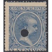 España Spain Telégrafos 215T 1889/99 MNH