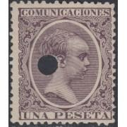 España Spain Telégrafos 226T 1889/99 MH