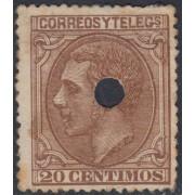 España Spain Telégrafos 203T 1879 MH