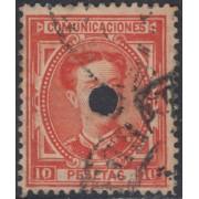 España Spain Telégrafos 182T 1876 Usado
