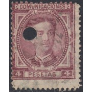 España Spain Telégrafos 181T 1876 Usado