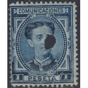España Spain Telégrafos 180T 1876 MH