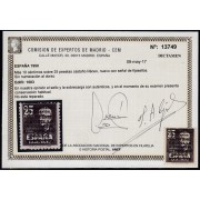 España Spain 1083 1951 Viaje Caudillo a Canarias Falla MH