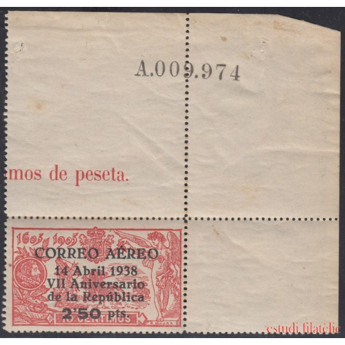 España Spain 756 1938 VII Aniversario República MNH