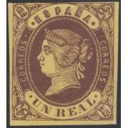 España Spain Variedad 61a 1862 Isabel II Variedad Amarillo Oro 365€