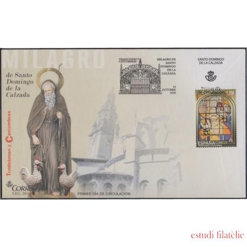 España Spain 5089 2016 Vidriera Catedral Sto Domingo SPD Sobres Primer Día