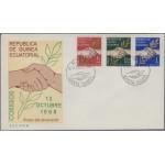 Guinea ecuatorial 1/3 1968 2 de Octubre SPD Sobre Primer Día