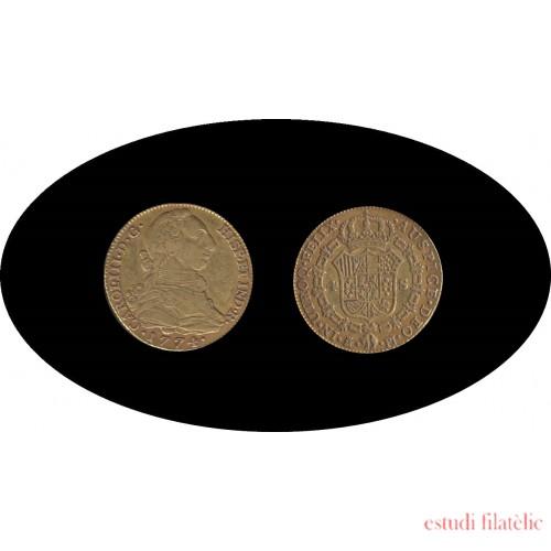 España Spain 4 escudos 1774 Madrid PJ Carlos III gold