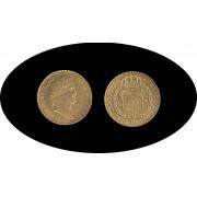 España Spain 2 escudos 1820 Mexico GJ Fernando VII gold