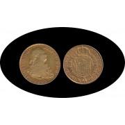 España Spain 2 escudos 1800 Madrid MF Carlos IIII gold