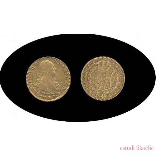 España Spain 2 escudos 1797 Madrid MF Carlos IIII gold