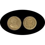 España Spain 2 escudos 1775 Madrid PJ Carlos IIII gold