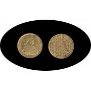 España Spain 2 escudos 1808 Madrid AI Carlos IIII gold