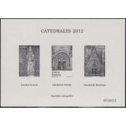 España Spain Prueba de lujo 110a 2012 Catedrales