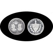Cuba 30 pesos 1991 3 onzas V Centenario Pinzón plata silver
