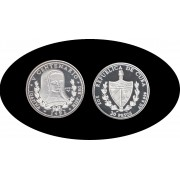 Cuba 30 pesos 1991 3 onzas V Centenario Loanna plata silver
