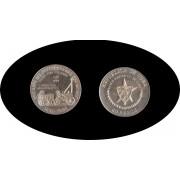 Cuba 20 pesos 1988 2 onzas 160º  Aniv. 1er Ferrocarril Liverpool Manchester