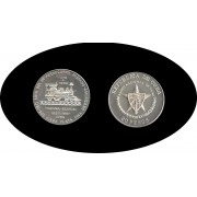 Cuba 20 pesos 1988 2 onzas 150º  Aniv. del 1er Ferrocarril Hispano plata silver